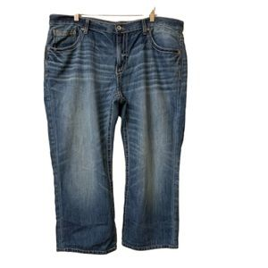 BKE Derek Bootleg 40R x 26 Mens Jeans Buckle Short
